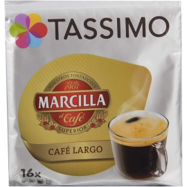 Tassimo Marcilla Café Largo Cápsulas- Pack 5 Paquetes (80 Cápsulas)