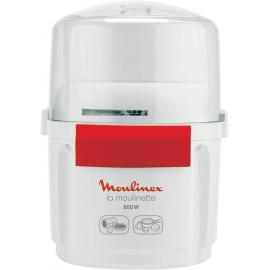 Picadora - Moulinex  AD560120, 800 W, 200 g/250 ml, Acero inoxidable, Cuchilla doble, Sistema 1-2-3, Blanco- La Moulinette