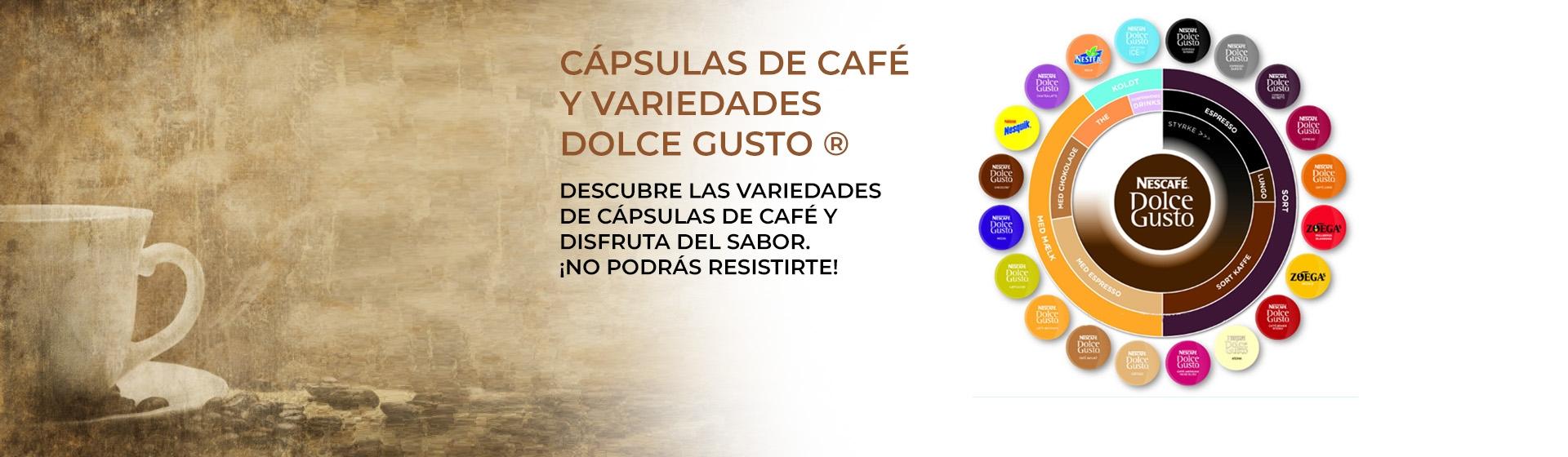 Cápsulas de Café y Variedades NESCAFÉ® Dolce Gusto®, descubre las más de 30 variedades de cápsulas de café y disfruta del sabor. ¡No podrás resistirte!